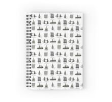 London Pattern Spiral Notebook