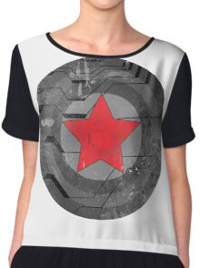 Winter Solider Shield Chiffon Top