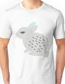Rabbits and flowers 002 Unisex T-Shirt