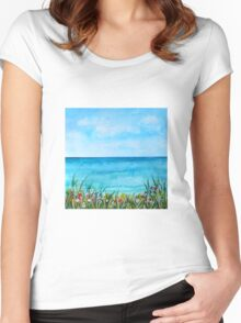 Beautiful Beach Women's Fitted Scoop T-Shirt