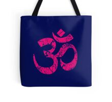 OM Yoga Spiritual Symbol in Distressed Style Tote Bag