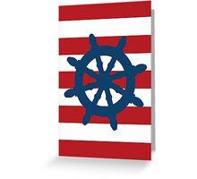 Nautical Wheel Greeting Card