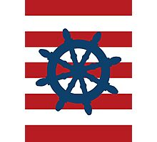 Nautical Wheel Photographic Print