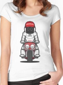 Honda Ruckus with Asimo Women's Fitted Scoop T-Shirt