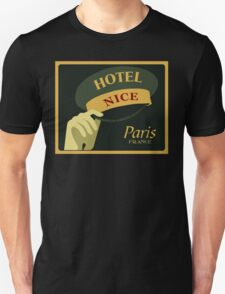 Hats off for a Nice Hotel Paris France retro style T-Shirt