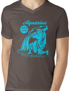Funny Aquarius Zodiac Mens V-Neck T-Shirt