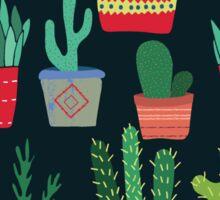 Dark Mysterious Cactus Pattern Sticker