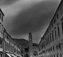 Downtown Dubrovnik - Croatia Sticker