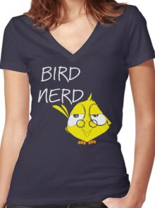 The Nerd Bird Women's Fitted V-Neck T-Shirt