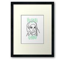 COOL HIJABI GANG Framed Print