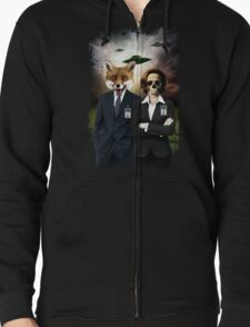 Fox and Skully Zipped Hoodie