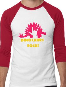 Dinosaurs Rock Men's Baseball ¾ T-Shirt