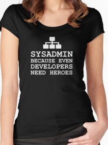 sysadmin heroe system administrator Women's Fitted Scoop T-Shirt
