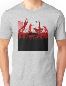 Soccer players at play poster Unisex T-Shirt