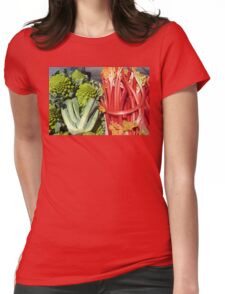 COLOURFUL VEGETABLES Womens Fitted T-Shirt