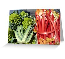 COLOURFUL VEGETABLES Greeting Card