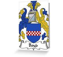 Boyd Coat of Arms / Boyd Family Crest Greeting Card