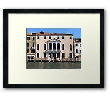 Hotel on Venice Canal Framed Print