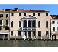 Hotel on Venice Canal Photographic Print