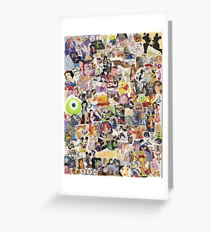 Disney Collage Design Greeting Card