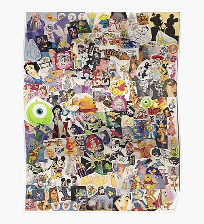 Disney Collage Design Poster
