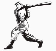 Baseball player hitting Kids Tee