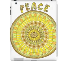 Peace mandala in yellow and orange tones iPad Case/Skin