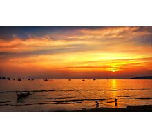 Bay Sunset Photographic Print