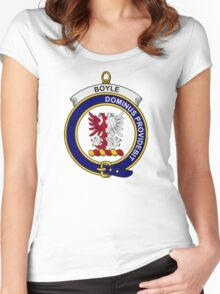 Boyle Clan Badge Women's Fitted Scoop T-Shirt