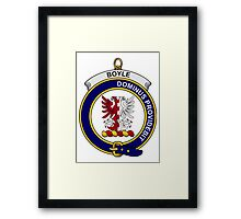 Boyle Clan Badge Framed Print
