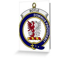 Boyle Clan Badge Greeting Card