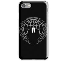 Anonymous Logotype iPhone Case/Skin