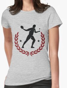 Table tennis player Womens Fitted T-Shirt