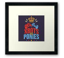 Xbots Vs Ponies Framed Print