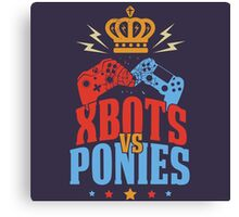 Xbots Vs Ponies Canvas Print