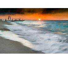 Puka Beach Sunset  Photographic Print