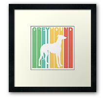 Retro Greyhound Silhouette Framed Print