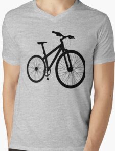 Bicycle silhouette Mens V-Neck T-Shirt