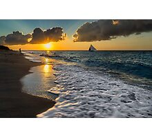 Sunset Boracay Photographic Print
