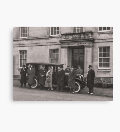 The Mob at the Courthouse Canvas Print