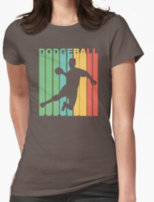 Retro Dodgeball Womens Fitted T-Shirt