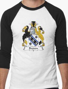 Brown Coat of Arms/Family Crest Men's Baseball ¾ T-Shirt