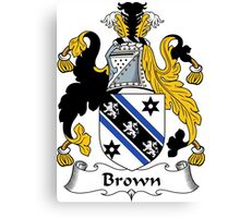 Brown Coat of Arms/Family Crest Canvas Print