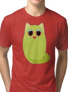 CAT CHARTREUSE ONE Tri-blend T-Shirt