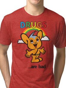 Pipo-Kun - Drugs Are Bad Tri-blend T-Shirt