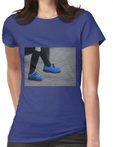 blue  suede  Womens Fitted T-Shirt