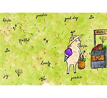 Piggy Went To The Organic Market Photographic Print