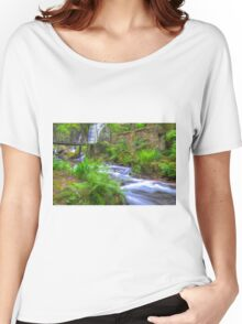 The Green Waterfall Women's Relaxed Fit T-Shirt