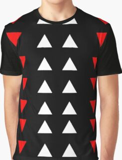 Triangles (white and red) Graphic T-Shirt
