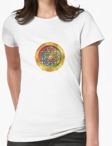 The Flower of Life - dark Womens Fitted T-Shirt